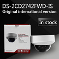 In stock Free shipping english version DS-2CD2742FWD-IS  Audio, 4MP WDR Vari-focal Dome Network Camera