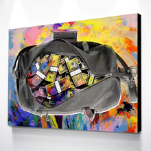 Drop Shipping Modern Wall Art Picture Colorful Dollars Money Bags Posters Canvas Paintings Posters Decor Quadros Canvas Prints