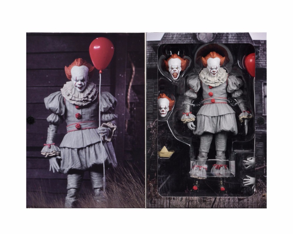 18cm 7inch Neca Stephen King's It Pennywise Joker Clown PVC Action Figure Toys Dolls Halloween Day Christmas Gift (4)