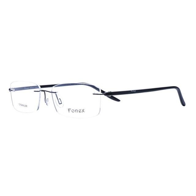 Marco de aleación de 90 TR Templo Marcos Gafas de Marco Ultraligero Gafas Sin Montura Gafas de Tendencias