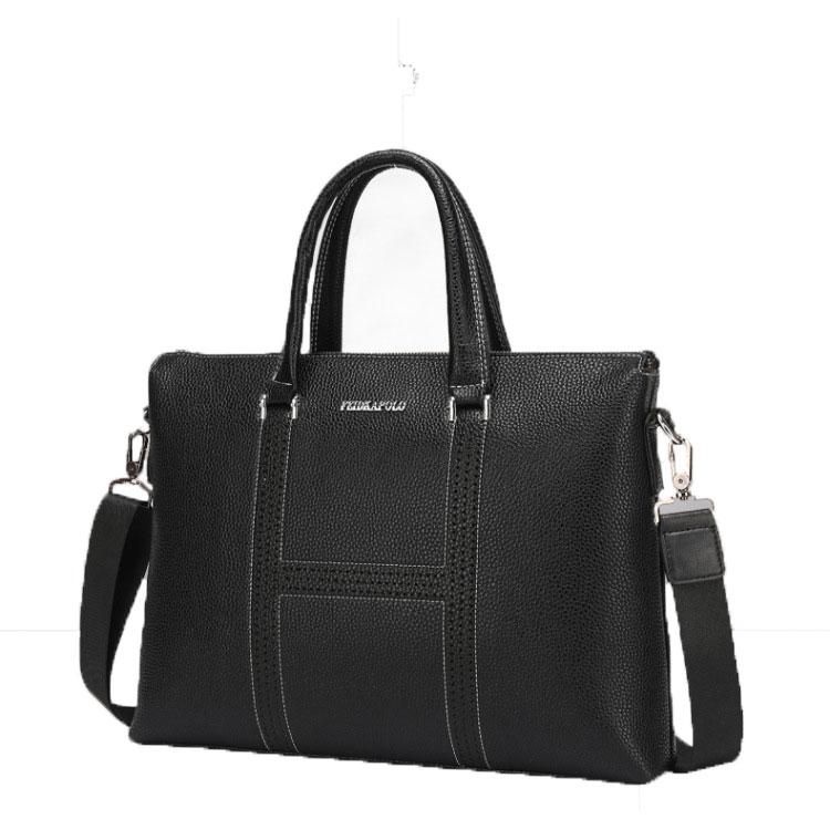 Fashion Vintage Male Genuine Leather Men Bag Men Briefcases Business Laptop Bags Travel Large Crossbody Messenger Bag