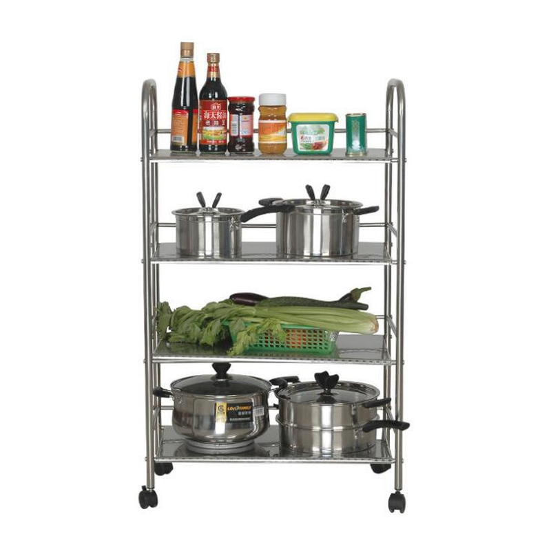 Us 80 95 20 Off Kitchen Storage Stainless Steel Plate Stand Silver Bathroom Organizer Rack 3 Shelf Shelving Unit On Wheels Black In