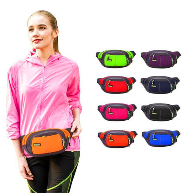 eb5741d3bcc9 US $3.89 30% OFF|Top Quality Unisex Running Bum Bag Travel Handy Hiking  Sport Fanny Pack Waist Belt Zip Pouch Running Bag-in Running Bags from  Sports ...