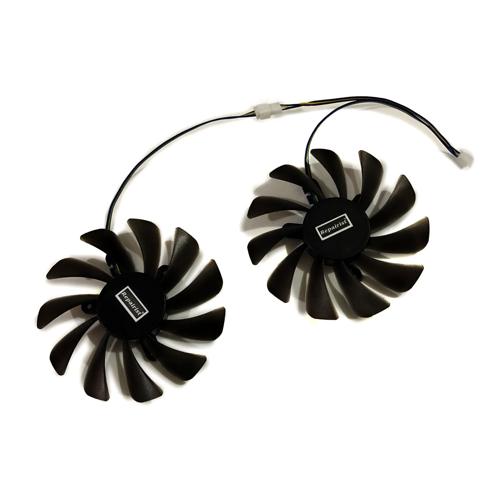 2pcs/set 95MM GAA8S2U GTX 1070Ti/1080Ti GPU VGA Cooler Fan For ZOTAC GeForce GTX1070Ti GTX1080Ti AMP Core Video Cards Cooling image