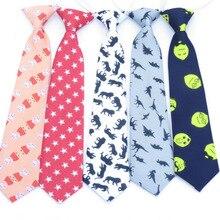 Детский галстук-бабочка для мальчиков и девочек, мультяшный Эластичный регулируемый галстук, Детский галстук с рисунком, Детская бабочка, повседневный галстук, Узкий Тонкий галстук