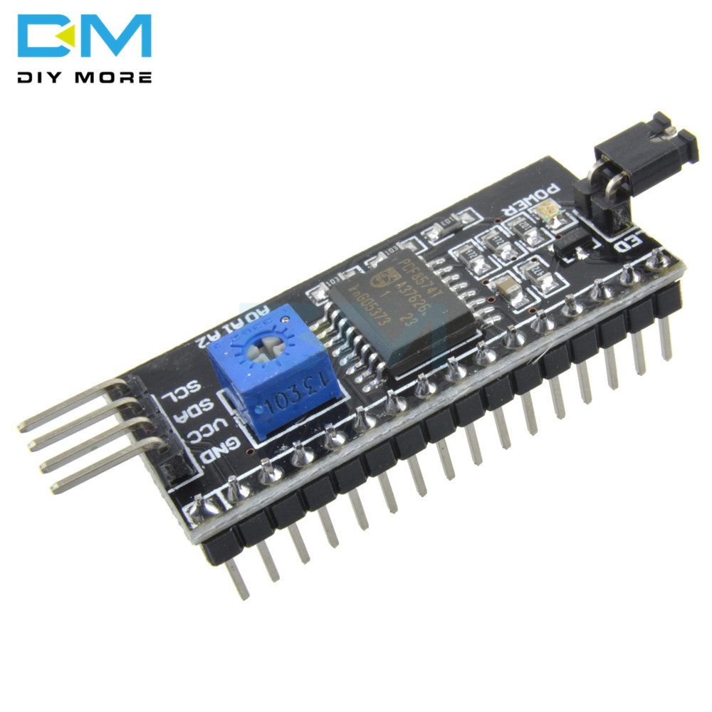 IIC I2C TWI SPI Serial Interface Board Port Adapter Converter Module For Arduino 1604 2004 LCD1602 Adapter Plate LCD