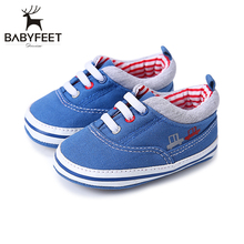 Baby Shoes Soft Sole Non-slip Rubber Bottom Baby First Walkers Breathable Canvas Shoe Infants Children For Babies Girl Boy