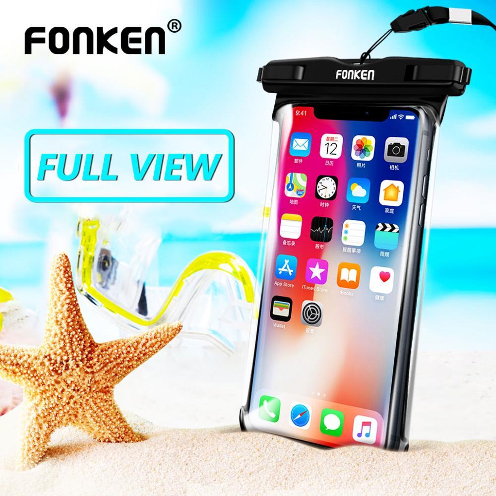 FONKEN Waterproof Case Pouch Phone Outdoor-Storage Diving Universal Mobile Transparent