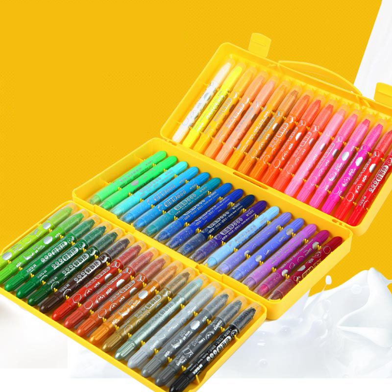 M&G Stationery set colorful Bar 24 color 36 color 48 color rotary crayon washable water soluble non-toxic children