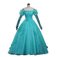 new summer blue elsa costumes female Cosplay party Dresses Princess Ariel dress vestidos de festa meninas for women