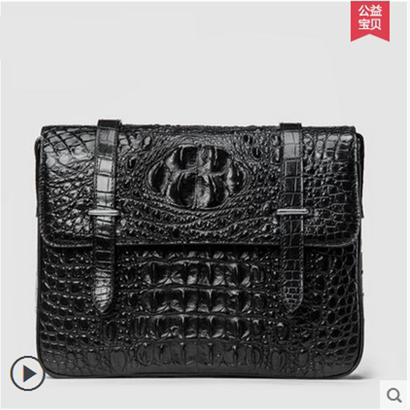 ouluoer New real crocodile Single shoulder bag cross - style casual men handbag business bag large capacity cross - package male tihinco new authentic crocodile handbag single shoulder bag leather male fashion business and leisure bag document package
