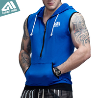 Aimpact GYM Workout Tank Top Men S Health Patchwork Street Wear Train Fitted Sleeveless Contrast Pocket