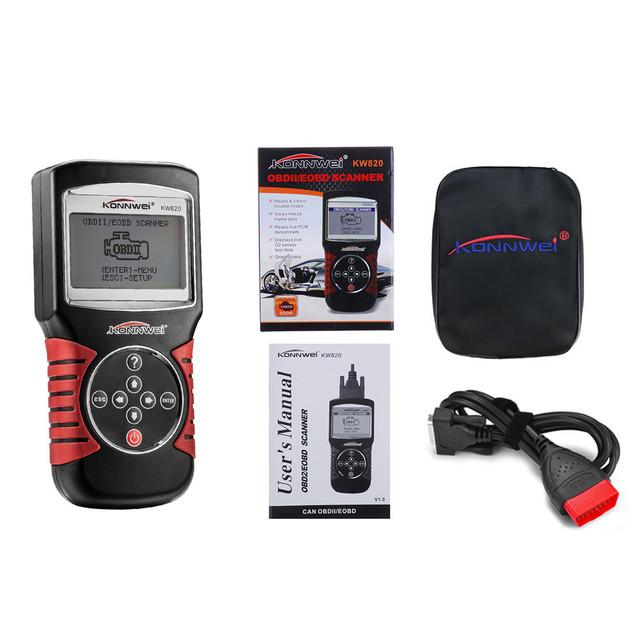 KONNWEI Instrument Tool NEW HOT SALE KW820 Car Fault Code Reader EOBD OBDII OBD2 Diagnostic Tester Scan Tool high quality 9531