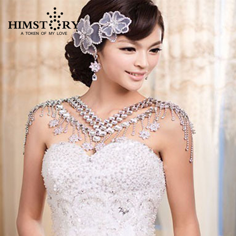 Luxury Vintage Christmas Valentine's Gift Crystal Bridal Necklace Chain Tassel Shoulder Strap Wedding Accessories Jewelry цена