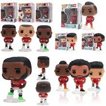 Funko POP Manchester United ve Liverpool Firmino Sadio Manet Mohamed Salah Zlatan Ibrahimovic Pogba aksiyon figürü oyuncakları çocuklar için