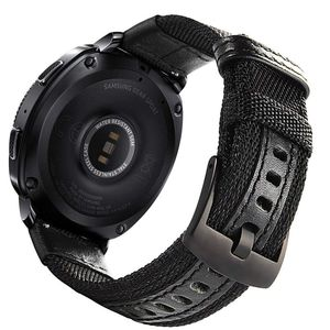 Image 4 - 삼성 기어 스포츠/갤럭시 시계 42mm/garmin vivoactive 3/ticwatch 2/e 용 easy fit 나일론 및 가죽 밴드 스트랩