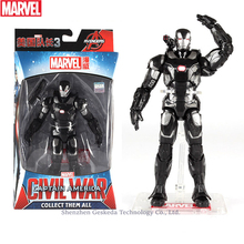 Hasbro Marvel Toys The Avenger Endgame 17CM Super Hero War Machine Thanos Wolverine Spider Man Iron Man Action Figure Toy Dolls play arts marvel avengers ironman war machine super hero black iron man bjd action figure model toys