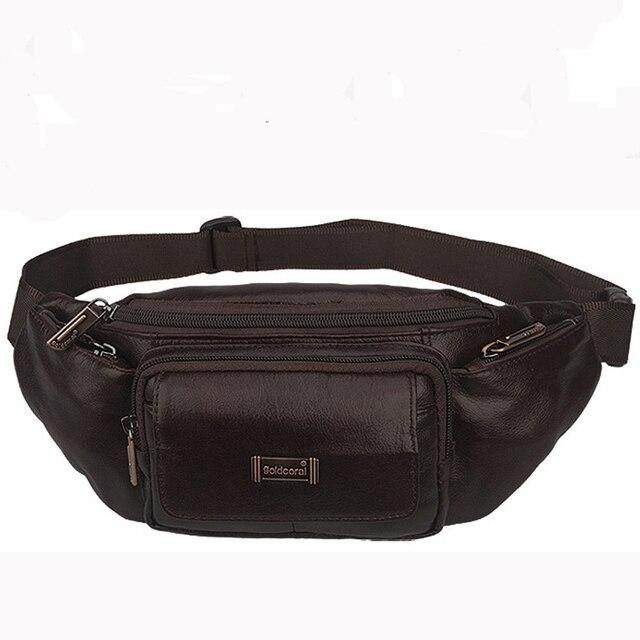 Moda Paquete de La Cintura Bolso del Almacenaje del Recorrido bolsas de cintura de cuero para hombres con Bolsillo de la Moneda de Tarjetas bolso de la correa Del Bolso Pouch