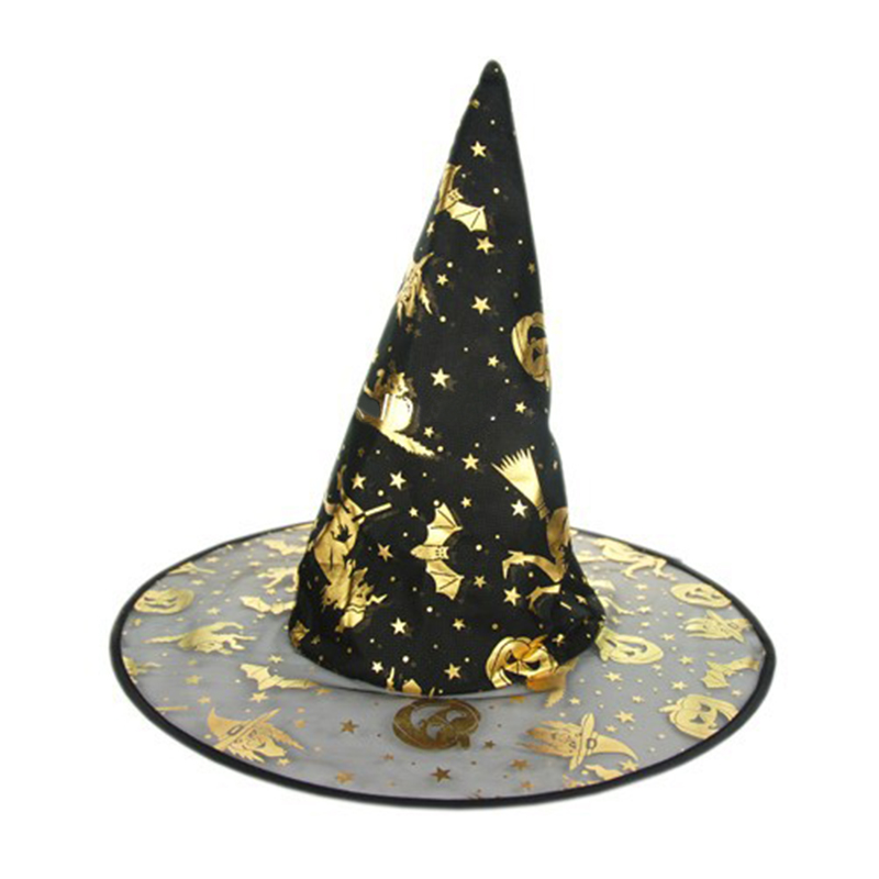 20 unids/lote Tema de Halloween Props Brujas Mago Cosplay Sombrero de Navidad Fe