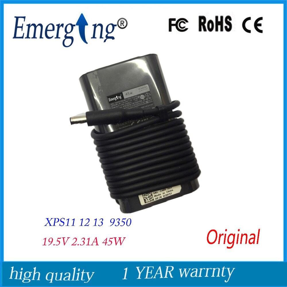 19.5V 2.31A 45W 4.5X3.0mm Original AC Laptop Adapter For Dell XPS 11 12 13 DA45NM131 LA45NM131 Ultrabook original oem ac adapter for samsung series 5 np530u3bi np530u3b a01uk ultrabook