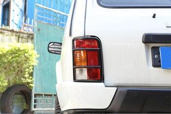 2x Paslanmaz Çelik Araba Arka Kuyruk Lambası Koruyucu Çerçeve Döşeme LADA NIVA LADA Için Aksesuarları