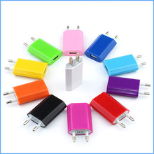 2PCS Colourful Common USB Charger Journey Wall Charger Adapter Smartphone USB Charger for iPhone Samsung Xiaomi LG iPad Tablets
