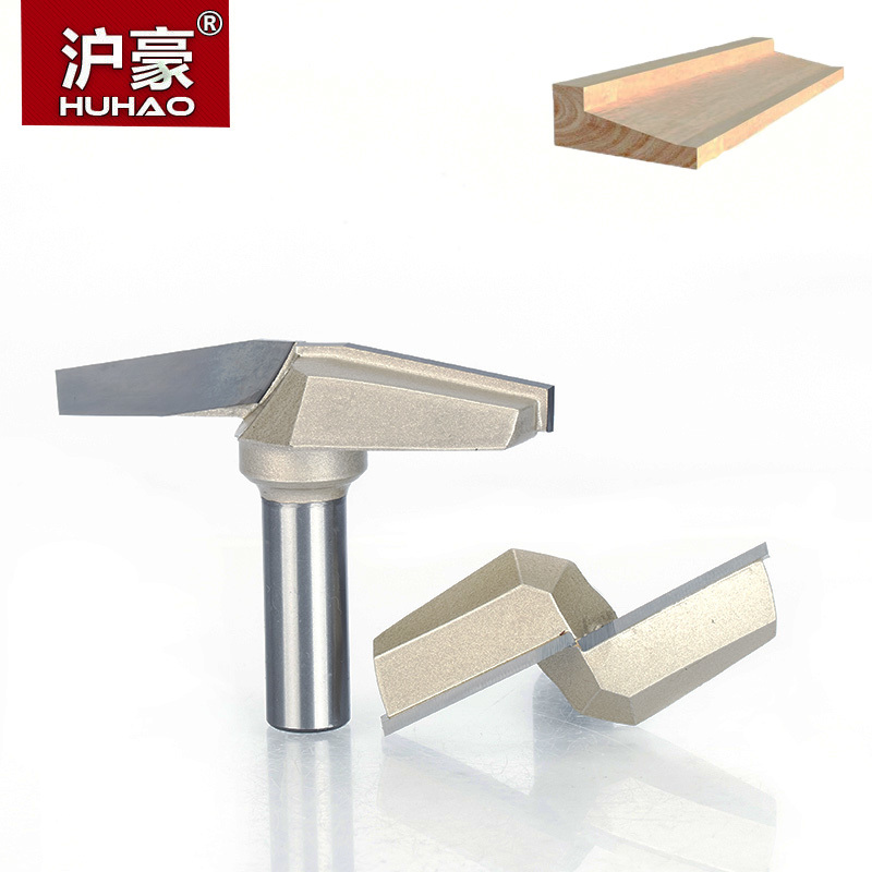 HUHAO 1pc 1/2 Shank CNC Bit Woodworking Tools Two Flute Router Bits For Wood Cutting Professional Grade Door Router Tool 1pc 1 4 shank high quality roman ogee edging and molding router bit wood cutting tool woodworking router bits chwjw 13180q