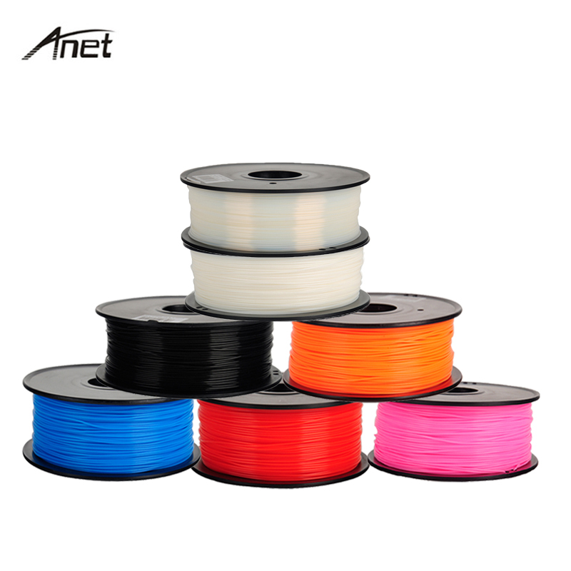 Anet 1Kg/spool ABS PLA Filament 1.75mm Plastic Rod Rubber Ribbon Consumables Material Refills for MakerBot/RepRap/3D Printer 3d printer parts filament for makerbot reprap up mendel 1 rolls filament pla 1 75mm 1kg consumables material for anet 3d printer