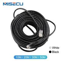 MISECU10M 20 м возможностью погружения на глубину до 30 м 50 M Кот RJ45 пестрые комнатные водонепроницаемый кабель Lan шнур сетевых кабелей Черный Цвет ...