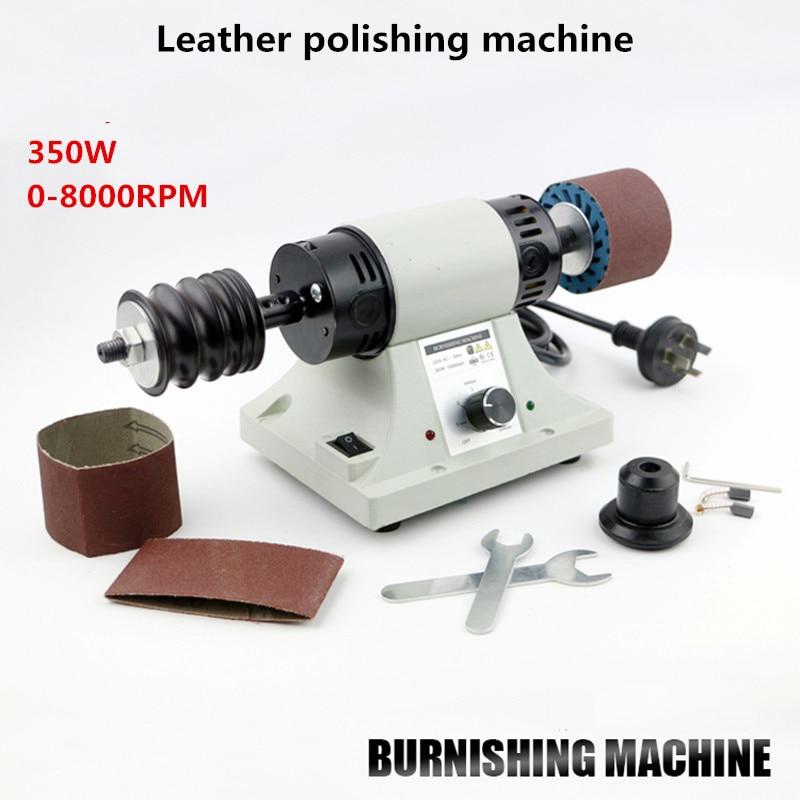 DIY Leather Polishing Burnishing Machine Leather Edge Grinding Machine 0-8000RPM Y