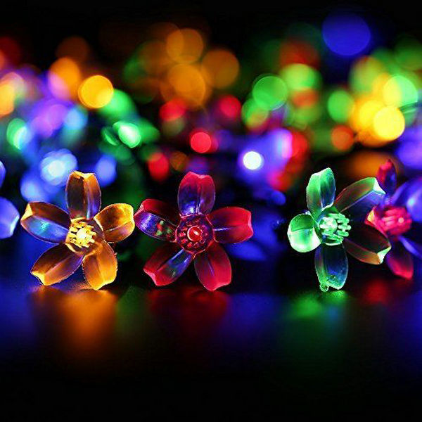 Outdoor Lighting 7m Solar Powered Fairy String Lights Peach Flower Cherry Blossom Lamp 22ft 50leds Waterproof F/xmas Wedding Garden Outdoor Party 2019 New Fashion Style Online Lights & Lighting