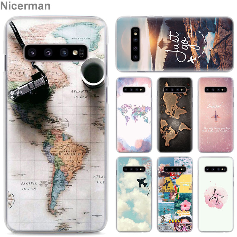 World Map Travel Plans Phone Cases for Samsung Galaxy S10e