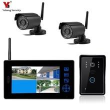 """Yobang система безопасности 2,4G CCTV система безопасности Видео Запись монитор дверной звонок+ 0.3MP цифровая камера Домашний домофон """" видеодомофон"""