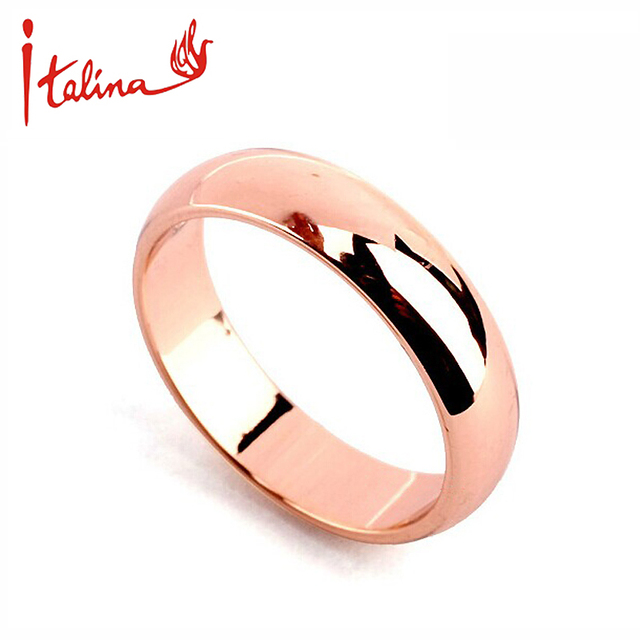 USTAR  Rose Gold color wedding rings for women Lover's men ring Fashion Jewelry anel anillos feminios bague bijoux Gift
