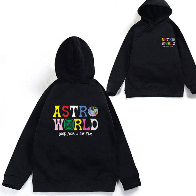 68407c912ad3 ASTROWORLD look mom i can fly hoodie Travis Scott Astroworld Sweater hoodie  2018 Gift Print Men's winter hoodies Hip Hop