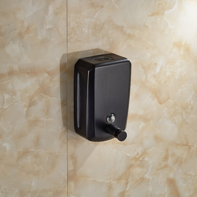 Wholesale And Retail Oil Rubbed Bronze Bathroom Kitchen Soap Dispenser  800ml Wall Mounted Soap Dish Box