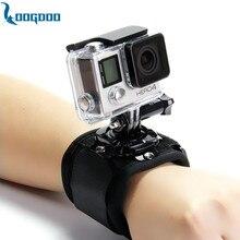 Loogdoo для gopro аксессуары 360 градусов вращения наручные ремешок для go pro hero 5 4 3 + 2 sj4000 sjcam xiaomi yi камеры tp128