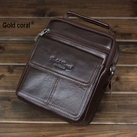 100 Genuine Leather Business Men Messenger Bags With High Quality Male Travel Sports Crossbody Shoulder Bags