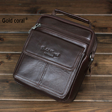 100% Genuine leather business men messenger bags with high quality male travel crossbody shoulder bags man handbags