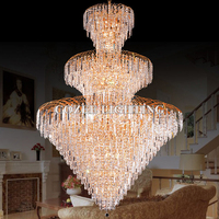 Luxury Empire Crystal Chandelier Lighting Cristal Lamp Chandeliers Hanging Lights Golden Chandelier Light for Hotel Lobby Decor