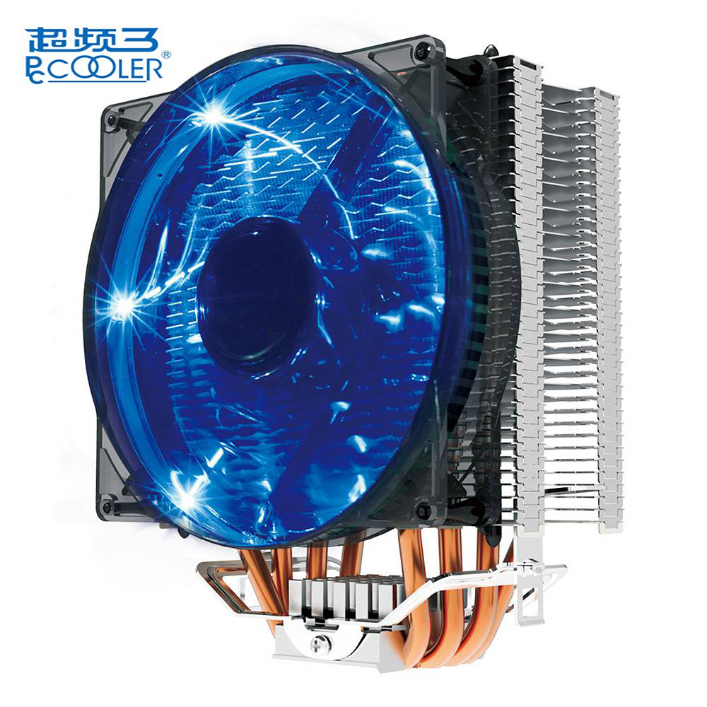 Pccooler Donghai X4 CPU Radiator Cooling Fan 12 cm Fan 4 pin Black Compatible for Intel LGA775/115X/2011, AMD754/939/940 pccooler donghai x5 4 pin cooling fan blue led copper computer case cpu cooler fans for intel lga 115x 775 1151 for amd 754