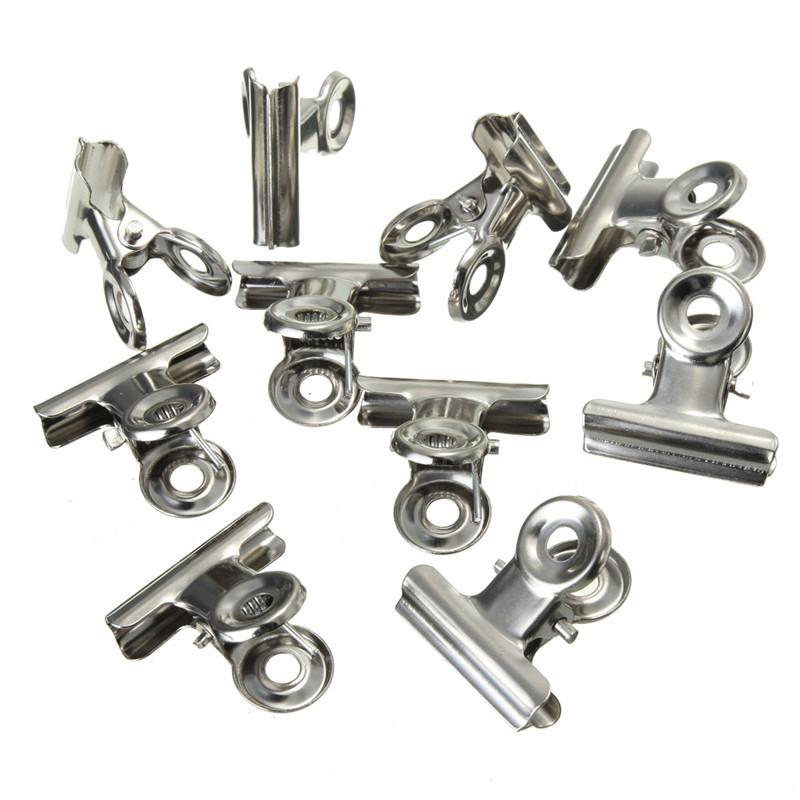 Binder Clip Office Paper Stainless Steel White Metal Clips Sizes 22mm 31mm 38mm 50mm 75mm Office & School Supplies Stationery