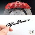 4x80 мм ALFA ROMEO БЕЛЫЙ Тормозной Суппорт Этикета Наклейки Высокая Температура