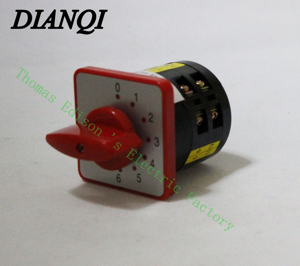 changeover switch  lw6-5/1-6 5a 380v 6 position Universal Changeover combination switch 2 knots lw6 changeover switch lw6 1 a028 10a 380v universal changeover combination switch one knots lw6