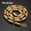 Modyle 2017 New Personality Design Gold Plated Bamboo Link chain Necklace Charming Men Acessories width 6.7mm length 50-60cm