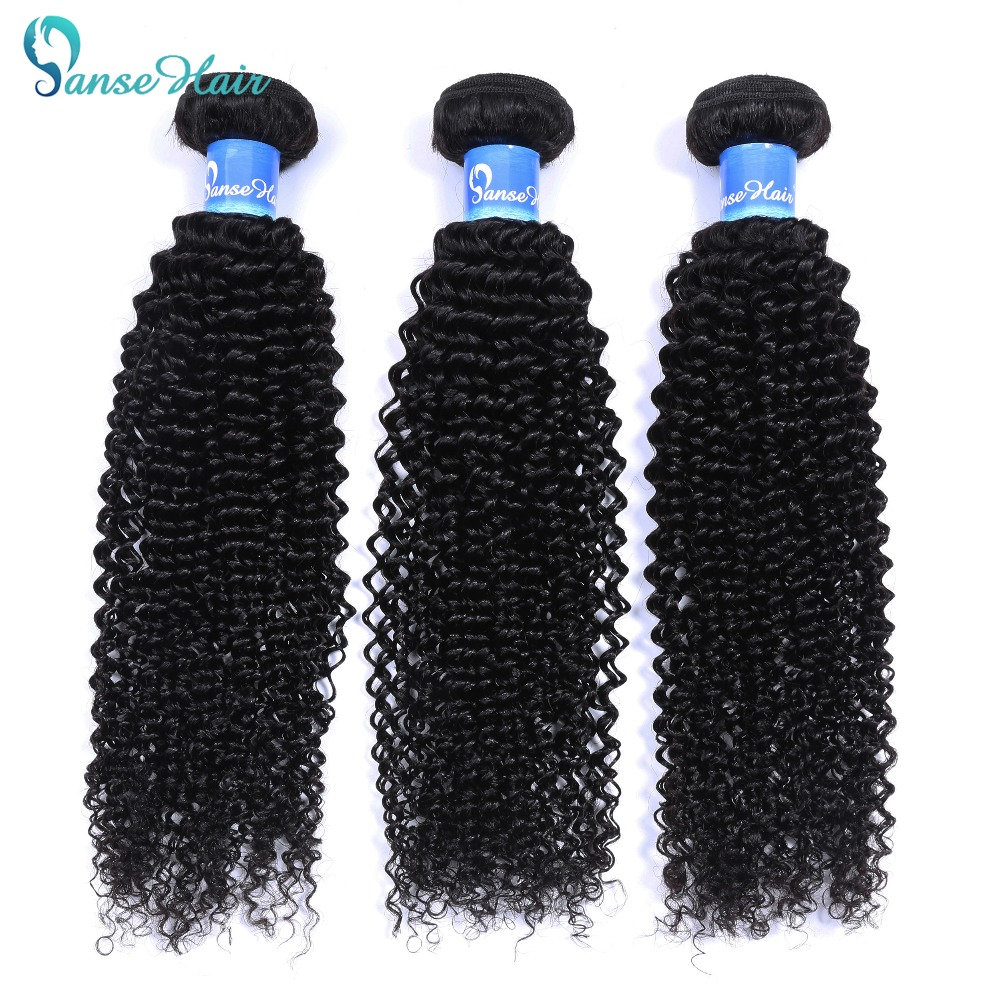 Panse Hair Brazilian Hair Deep Curly 8-30 Inches Color 1B 100% Human Hair Weaving One/Three/Four Bundles On Sale Non Remy Hair