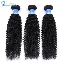 Panse Hair Brazilian Hair kinky Curly 8 30 Inches Color 1B 100% Human Hair Weaving One/Three/Four Bundles On Sale Non Remy Hair