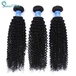Panse Hair Brazilian Hair kinky Curly 8-30 Inches Color 1B 100% Human Hair Weaving One/Three/Four Bundles On Sale Non-Remy Hair