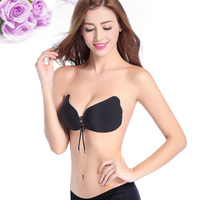 Fashion Women Bra Strapless Self Adhesive Strapless Bandage Stick Gel Silicone Push Up Invisible Bra