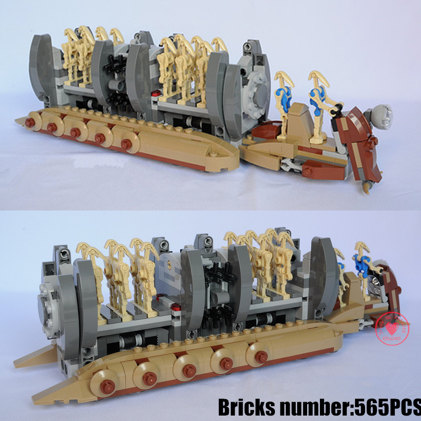NEW Star wars Battle Droid Troop Carrier fit legoings star wars figures fighter model Building Blocks bricks Toys Boys gift kid new force awakens fighter fit legoings star wars millennium falcon figures 10467 75212 building blocks bricks gift kid toys